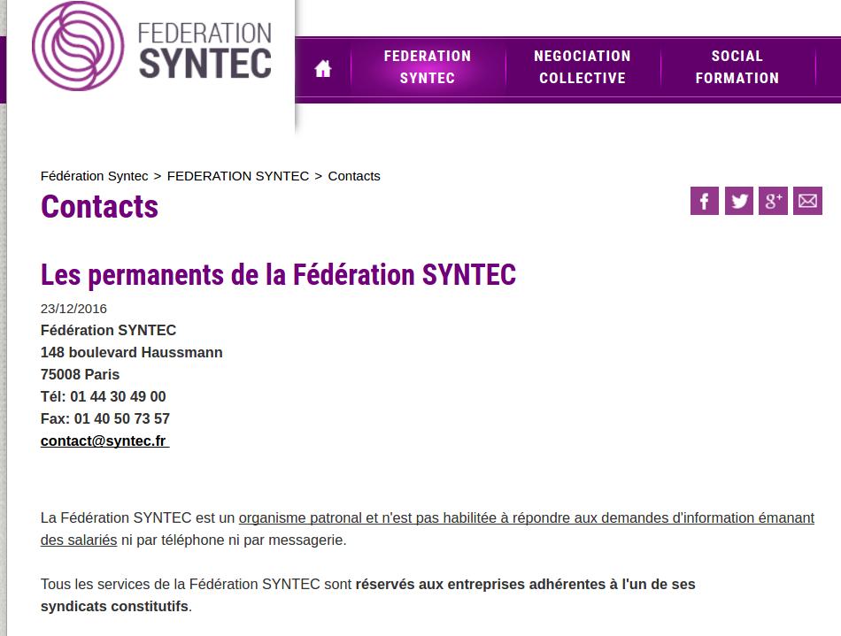 Ne parlons plus de Syntec mais de Convention des bureaux dtude