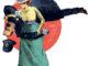 Suffragette effectuant une prise de jujitsu sur un policier
